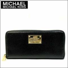あす着 マイケルコース MICHAEL KORS 財布 長財布 ブラック ゴールド レザー 本革 レディース ブランド アウトレット 35t4gttz3a-black
