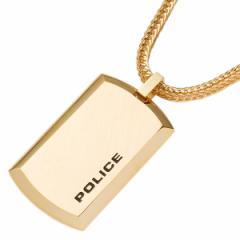後払い 【あす着】ポリス POLICE ペンダント タグ ピュアリティー PURITY ゴールド 24920PSG-A【新品】