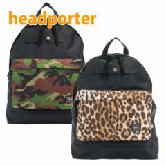 【あす着】ヘッドポーター HEAD PORTER リュックサック ゼファー ブラック 迷彩 レオパード HP-1143【新品】