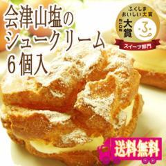【送料無料】山塩シュークリーム 6個入