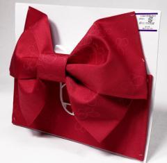 【日本製】ジュニアサイズ 浴衣 結び帯 作り帯 レッド