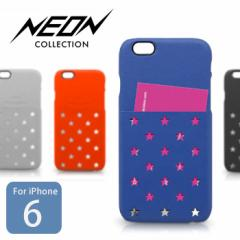 【Kajsa/カイサ】iPhone6/6S Neon Collection Star pocket Backcase スターポケット バックケース 【メール便OK】