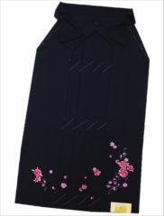 卒業式に レンタルよりお得 無地刺繍袴(はかま)濃紺地八重桜撫子S・M・L・LL
