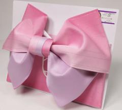 日本製 グラデーション リバーシブル ラメ入り 浴衣 浴衣帯 作り帯 結び帯 ピンク×ラベンダー