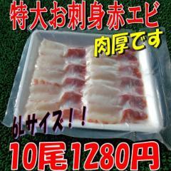 生食用赤エビ特大6Lサイズ(10尾)/SALE/ギフト/贈答/業務用/グルメ/BBQ/お歳暮/お得/