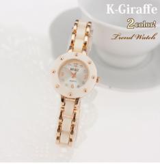 即納【送料無料★メール便】ブレスレットとしても◎シンプル&上品なレディース腕時計・