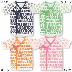 NEW ベビー肌着/総柄ロゴ(新生児用/短肌着)-雑貨ベビーサイズベビードール 子供服-5510