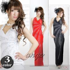 LD1210-109/キャバドレス/シフォンシューティングスパンホルタードレス