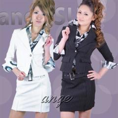 S1301-018/【送料無料】キャバスーツ/ベストプリントシャツ付きスーツ