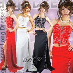 LD1405-013/【送料無料】キャバドレス/豪華ビジュ&ストーンスリット2ピースドレス