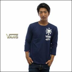 VANS バンズ Tシャツ 七分袖 3/4 Sleeve Tシャツ Coffin Back PT ロゴtee スカルプリント