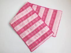 子供キッズ女の子浴衣ゆかたに 簡単ふわっふわ兵児帯濃ピンクライン
