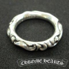 クロムハーツ 指輪 リング CHROME HEARTS 指輪 Scroll Band Ring スクロールバンドリング