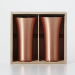 送料無料 WDH 純銅製 タンブラー 2個セット マット ペアセット ビールグラス 日本製  / 桐箱入り  / プレゼント 引き出物