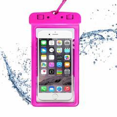 4eecdcc5f9 スマホ防水ケース IPX8 6センチ以下のiPhoneとAndroidスマホに対応可能 ネック
