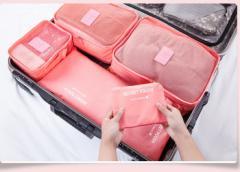 セール レジャーに 今だけ¥1880【最新予約】6点セット 修学旅行/ビジネス出張などに役立つ 収納袋(バッグ) 6色提供