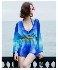 即納セール M〜XL 【最新予約】海の妖精 マリンブルーの極み ホルダービキニ 3点セット パット入り水着