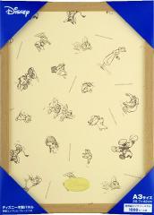 木製パネル【世界最小ジグソーパズル1000ピース専用 ナチュラル】 Disneyエンブレム・プレート付き/テンヨー