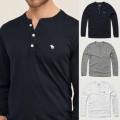 アバクロ Tシャツ メンズ ロンT ヘンリーネック 長袖 122-0426all abercrombie & fitch アバクロンビー&フィッチ