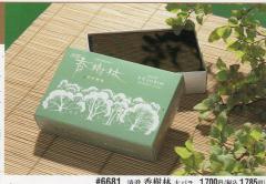 煙の少ない 高級実用線香 清澄 香樹林 #6681 大バラ 税抜¥1700円