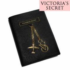 ヴィクトリアシークレット/VICTORIAS SECRET ロゴチャーム パスポートケース ブラック 【日本未発売★】