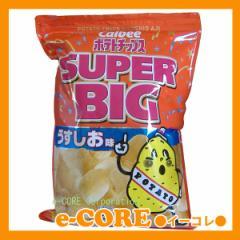 パーティサイズの大容量 カルビーCalbee ポテトチップス うすしお味 スーパービッグ SUPER BIG 500g入 自然結晶塩使用 ※ラッピ