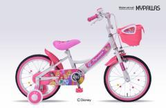 プリンセス子供用自転車16可愛く、楽しく乗れる、人気キャラモデル補助輪付きで安心・安全!MD-08