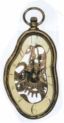 メルティングクロック 掛け時計タイプ アンティークゴールド (54443) ダリっぽい掛時計