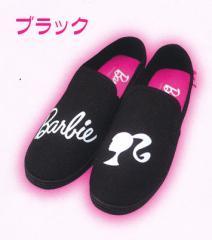 『バービースリッポン ブラック』レディース 靴 ジップ 選べる3サイズ(22〜25cm)