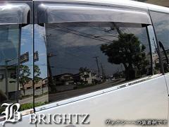 BRIGHTZ ムラーノ Z50 超鏡面ステンレスブラックメッキピラーパネル バイザー無用 14PC サイド ドア 窓 柱 カバー