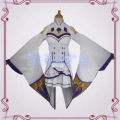 Re:ゼロから始める異世界生活 エミリア コスプレ衣装  高品質 新品 Cosplay アニメ イベント パーティー 仮装