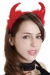 ハロウィン 衣装 女 大人 コスプレ ヘアアクセ 小物 グッズ 悪魔 デビル 仮装 コスチューム フワフワレッドデビル