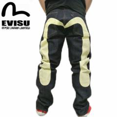 EVISU(エヴィス エビス ) X WAREHOUSE(ウエアハウス) NO2素材 やや太め #2001 ジーンズ 大黒ホワイト