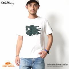 Keith Haring メンズ プリントTシャツ 半袖 キース ヘリングKRIFF MAYER 日本製 国産 クリフメイヤー 1619921C 5947【pre_d】