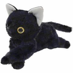 【いっしょがいいね 猫 ビーンズぬいぐるみ 黒猫】くたくたで自由にポーズがとれるよ