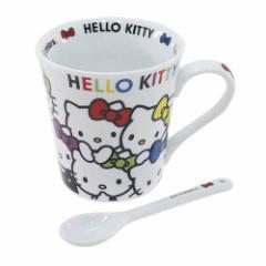 ◆ハローキティ[マグカップ]スプーン付きサンリオ【インテリア・食器 】プレゼント、贈り物、お土産,キャラクターグッツ通販、