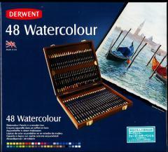 「20%off 送料無料」ダーウェントウォーターカラーペンシル水彩色鉛筆48色 ウッドボックスセット