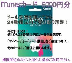 iTunes Card カード 5000円 Apple itunes ポイント消化に!アイチューンカード   /金券カテゴリ