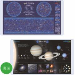【2017年度版】デスクマット小学館NEO図鑑[星と星座/宇宙]両面クリアYDS−685SU<コイズミ>