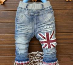 【ゆうメール送料込み】韓国子供服アメカジハーフデニムパンツ80〜110cm