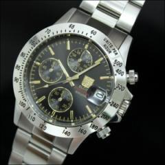 送料無料★エルジン クロノグラフダイバー FK1184S-GBN ブラック■腕時計 クォーツ時計 メンズ時計 男性用腕時計 メンズウォッチ