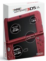 【即納可能】【新品】Newニンテンドー3DS LL本体 メタリックレッド【代引不可】【送料無料】
