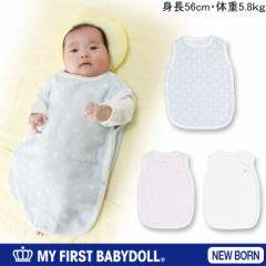 NEW♪MY FIRST BABYDOLL_肌に優しい綿100%水玉スリーパー-新生児用50〜60cm出産祝いベビードール 子供服-5634