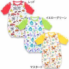 NEW♪ディズニー 新生児用2wayカバーオール/ドレスオール(総柄)-ベビーサイズベビードール 子供服 DISNEY-6491B