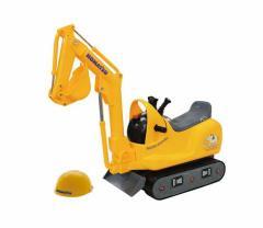 TOYCO 乗用マイクロショベル コマツPC−01(ヘルメット付)(ベビー足けり 乗用玩具 自動車)[乗用玩具] (4962603007533)