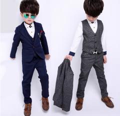 男の子 こどもスーツ 3点セット スーツ フォーマル/子供服 男の子スーツ キッズ 入学スーツ 卒園式 発表会 結婚式 卒業式 キッズスーツ
