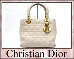 あす着 Dior ディオール ハンドバッグ ショルダーバッグ レディディオール 2wayバッグ ラムスキン ライトベージュ レディース
