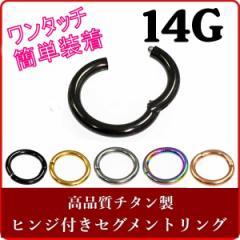 セグメントリング ワンタッチタイプ 【14G/1.6mm】チタン 軟骨ピアス(ボディピアス/ボディーピアス)
