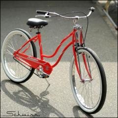 "【SALE】SCHWINN シュウィン ""CLASSIC CRUISER SS"" レッド レディース ビーチクルーザー 26インチ 自転車"