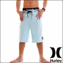 HURLEY サーフパンツ メンズ 水着 トランクス 海パン SS ONE & ONLY 22インチ ロング丈 トレーニングウェア ジム フィットネス ブルー
